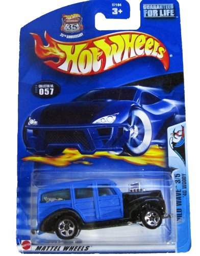 Hot Wheels - 35th Anniversary - #57 - Wild Wave 3/5 - '40 Woody (blue)