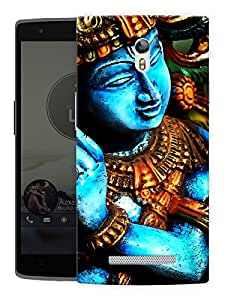 "Humor Gang Krishna Moorti Abstract - Indian Hindu God Printed Designer Mobile Back Cover For ""Oppo R7"" (3D, Matte, Premium Quality Snap On Case)"