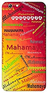 Mahamaya (Goddess Durga) Name & Sign Printed All over customize & Personalized!! Protective back cover for your Smart Phone : Apple iPhone 4/4S