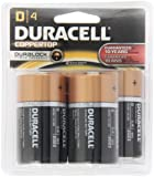 Duracell MN1300R4 D Cell 4-Count