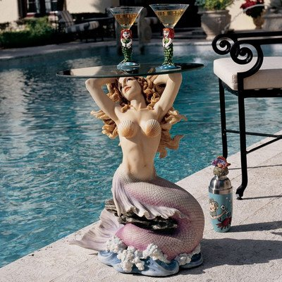 Design Toscano WU70380 Mermaid of Magellan's Cove Glass-Topped picture