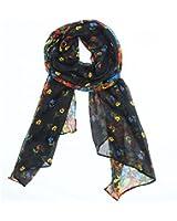 niceeshop(TM) Women Soft Paris Yarn Long Scarf Wraps With Flower Pattern