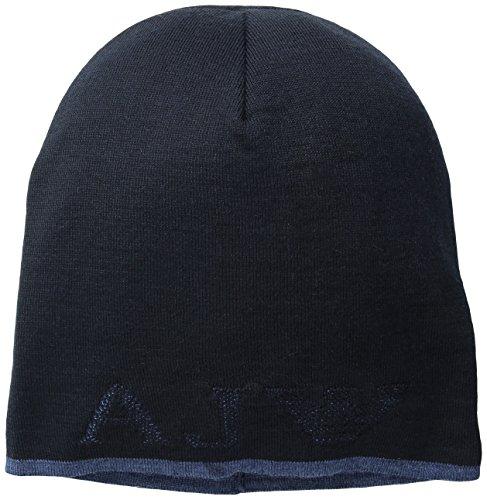 Armani Jeans cuffia berretto uomo in lana originale coppla blu EU M B6421 D7 H8