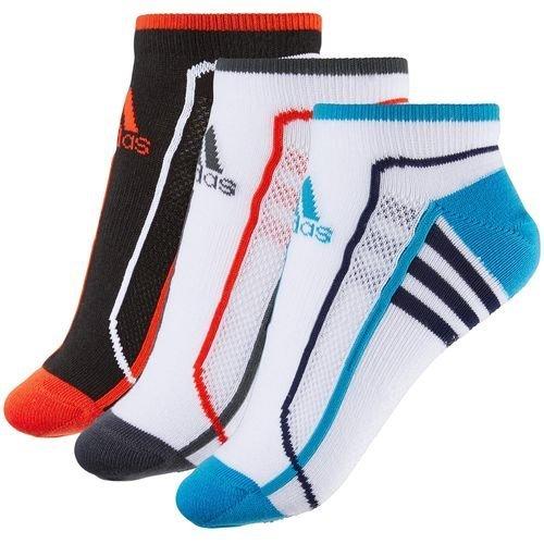 (アディダス)adidas 3Pグリップソックス JEF57 S04917 ブラック/ソーラーレッド/ホワイト 25-27