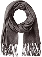 V Fraas Men's Solid Scarf, Charcoal, One Size