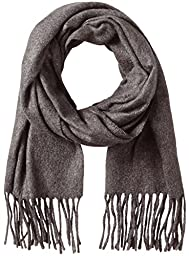 V Fraas Men\'s Solid Scarf, Charcoal, One Size