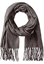 Fraas Men's Solid Scarf, Charcoal, One Size