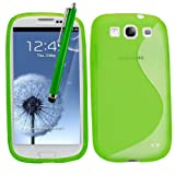 Samrick S Wave Coque de protection hydrogel pour Samsung Galaxy S3 i9300/LTE 4G avec film de protection �cran, chiffon de nettoyage en microfibre et stylet pour �cran tactile