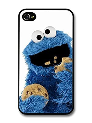 fashion case Cookie Monster Muppet Eating Biscuits with White Background case for iphone 5 5s