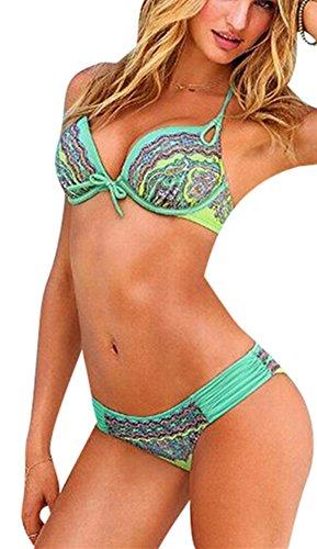 Sexy-temptation Womens Bikini national totem design swimsuit 2 Piece image