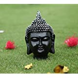 TiedRibbons Buddha Head Statue Size(5.2X3X3,Inch)Silver