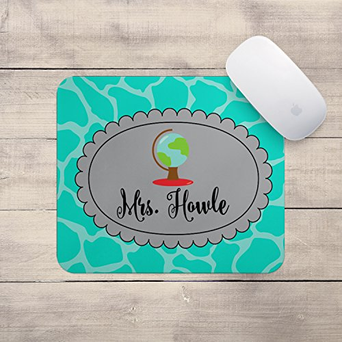 Personalized Teacher Mouse Pad - Globe Custom Personalized Teacher Gift MousePad