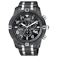 Citizen Men's BL5478-55E Eco-Drive Black Ion Plated Perpetual Calendar Chronograph Watch