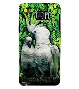ColourCraft Beautiful Parrots Design Back Case Cover for SAMSUNG GALAXY NOTE 5