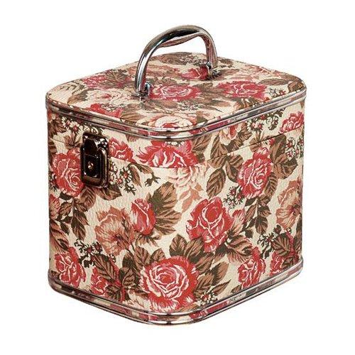 取寄品 マダムローズ Gー5655ボックス ハードタイプバニティケース お化粧品携帯ケース