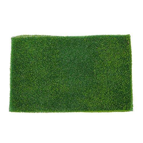 Magideal 2pcs Light Green Grass Mat Lawn Model Railway
