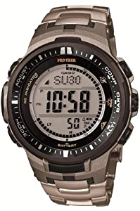 Casio Men's Protrek Triple Sensor PRW-3000T-7 Ver.3 Tough Solar Titanium Watch Limited