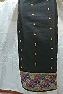 Amazon.com: Genuine Black Lao Laos Laotian Silk Fabrichigh