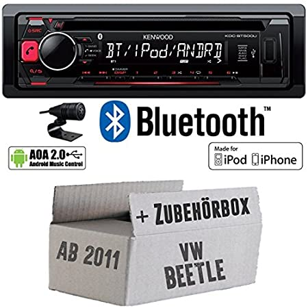VW Beetle 2 5C - Kenwood KDC-BT500U - Bluetooth CD/MP3/USB Autoradio - Einbauset