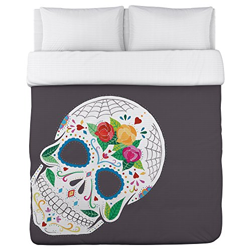 Bentin Home Deco Calavera Lightweight Duvet Cover, Full/Queen deco home напольная вешалка