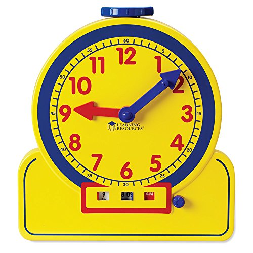 Learning Resources Primary Time Teacher 12-Hour Learning Clock - 1