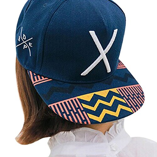 Caps,Toraway New Unisex Hip-Pop Letter X Flat Hat Baseball Cap Hip-Hop Peaked Cap (Mens Peaked Hats compare prices)
