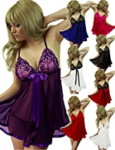 Yummy Bee Lingerie Babydoll Set + Lace Stockings Plus Size 8 - 26