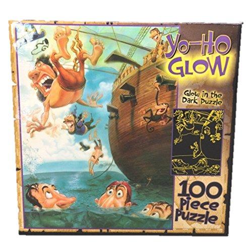 Yo-Ho Crazy Pirate Glow in the Dark 100 Piece Jigsaw Puzzle By Gary Locke - 1