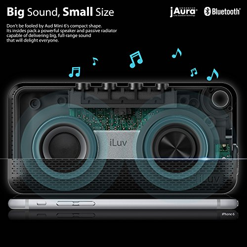 Iluv Aud MiniTM Smart 6 Slim Portable Weather-resistant App-enabled Fm Radio and Bluetooth® Speaker for Iphone 6/6 Plus, 5s/5c/5, 4s; Samsung Galaxy S5, S4, S3, Note 4, Note 3; Lg®; Htc®; Ipad®; Ipad MiniTM and Other Bluetooth-compatible Smartphones and кристал стилус сенсорный экран ручку для iphone 6 6 5 плюс ipad воздух мини 2 3 4 samsung htc