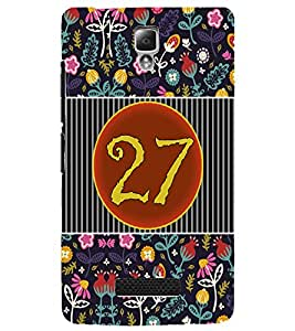 PrintDhaba Numerology Number 27 D-3116 Back Case Cover for LENOVO A2010 (Multi-Coloured)