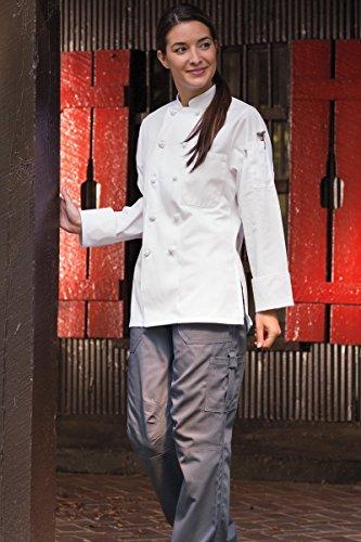 Uncommon Threads Women's Sedona Fit Chef Coat, White, Medium (Womans Chef Coat compare prices)