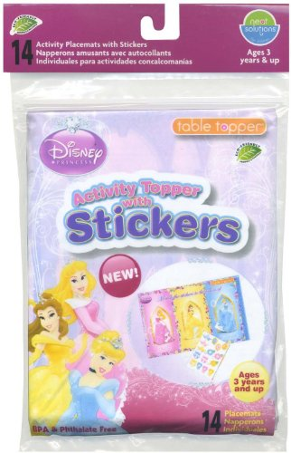 Neat Solutions Activity Topper w/ Stickers - Disney Princess - 14 ct - 1