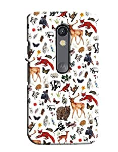 Blue Throat Animal Inpsired Hard Plastic Printed Back Cover/Case For Moto X Play