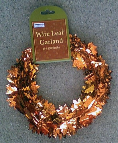 Autumn Leaves Wire Garland - 25 Feet