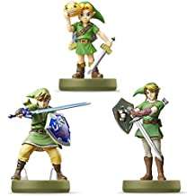 Amiibo Link 3 Set (Majora'S Mask, Twilight Princess, The Sky Warred Sword The Legend Series Of Zelda ) Japanese Ver