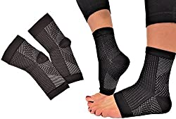 Plantar Fasciitis Foot Compression Sleeves for Men & Women - Increases Circulation - Heel Arch Support for Foot Pain Swelling Edema Spurs & Discomfort - Ankle Brace Sock Better than Night Splint