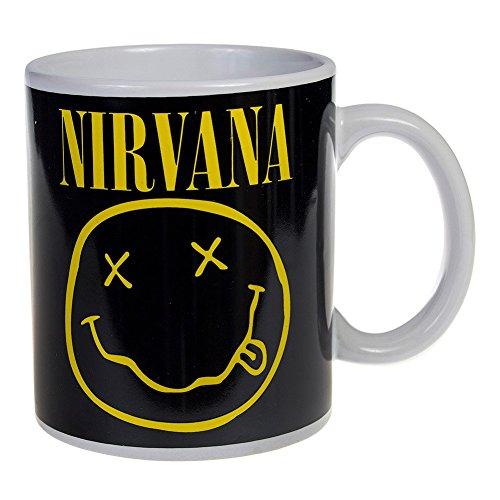 """Smiley dei Nirvana """"Nevermind""""-Tazza ufficiale con scatola"""
