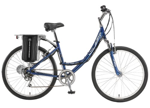 EZIP Trailz Low Step Electric Bicycle - Blue