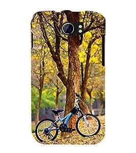printtech Park Bike Back Case Cover for Micromax Canvas 2 A110 / Micromax Canvas 2 Plus A110Q