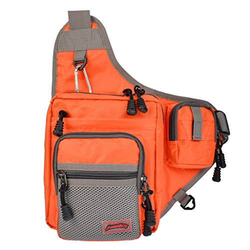MadBite SlingBack Fishing Backpack Soft Fishing Tackle Bag Gives Surf Fishing and Bank Fishing Anglers Easy Portable Storage - Great as Messenger bag and Sling Bag (Orange) (Tackle Boxes And Bags compare prices)