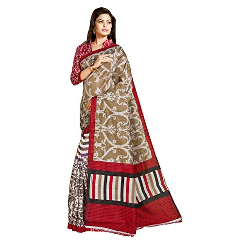Aagaman Fashion Jute Silk Sarees (TSAMSJS1007_Beige)