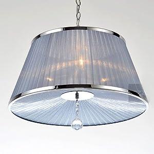 "Amazon.com - 20"" Light Blue Fabric Chain Pendant Lamps"