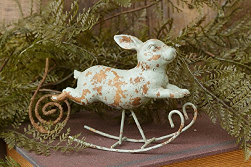 Spring Easter Decor Vintage Bunny Rabbit Rocking