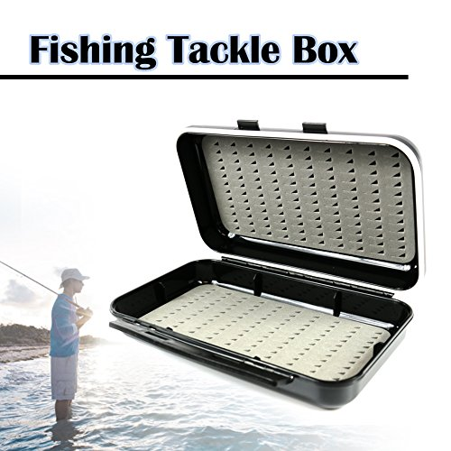 Elixir outdoor waterproof double side fly fishing tackle for Ice fishing tackle box