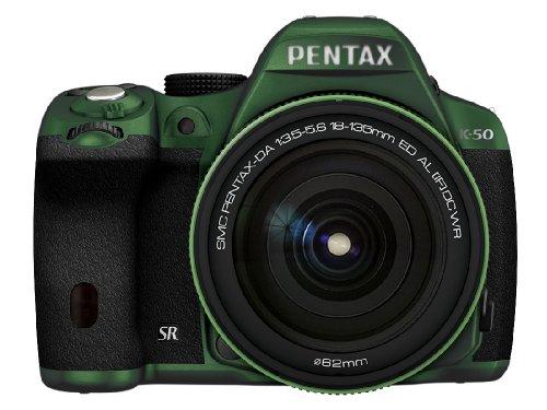 RICOH デジタル一眼レフ PENTAX K-50 DA18-135mmWRレンズキット メタルグリーン/ブラック 106 K-50 18-135WR KIT METAL GREEN/BLACK106 11494