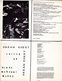 Dream Sheet 1965 Diane Wakoski