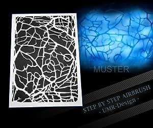 Step by Step Airbrush Schablone Netz AS-055