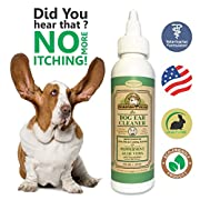 Dog Ear Cleaner/ Advanced Dog Ear Wax Remover- All Natural/With Nature Extracts & Olive Oil - Best Antifungal/Antibacterial Pet Ear Wax Cleaner Products For Small/Large Puppies & Dogs By Makondo Pets