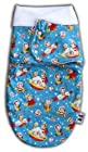 The Pat a Cake Baby Retro Rockets Swaddle Wrap