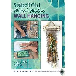 Stencil Girl - Stenciled Mixed Media Wall Hanging
